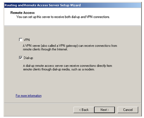 Set up NAT through the Routing And Remote Access Server Setup Wizard