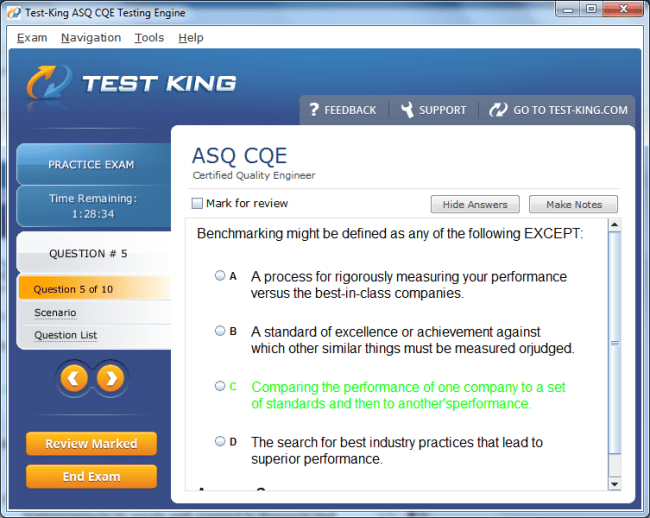 CQE Testking ASQ Exam Questions - CQE Certification with CQE Answers