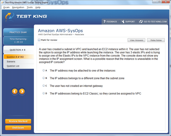 Aws Sysops Testking Amazon Exam Questions Aws Certified Sysops