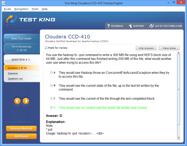 Ccd 410 Testking Cloudera Exam Questions Ccdh Certification With
