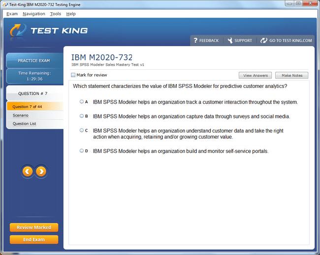 M2020 732 Testking IBM Exam Questions