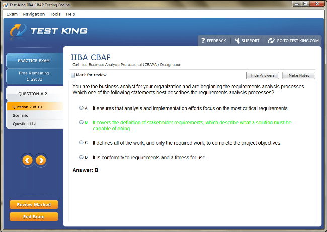 CBAP Testking IIBA Exam Questions - CBAP Certification with CBAP ...