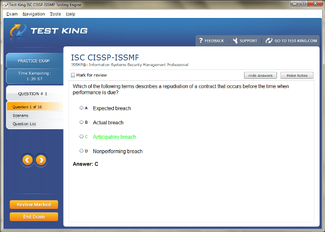 CISSP-ISSMP Sample 1