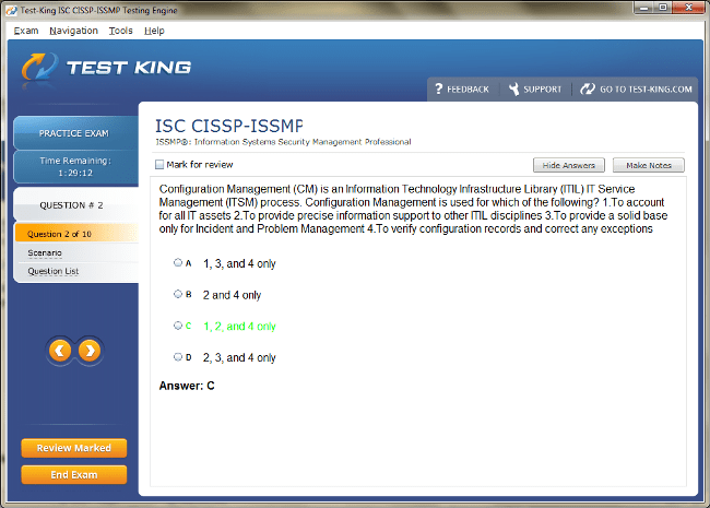 CISSP-ISSMP Sample 2