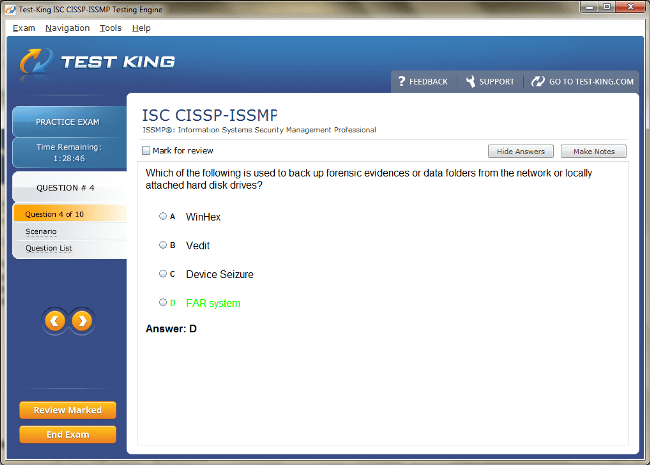 CISSP-ISSMP Sample 4