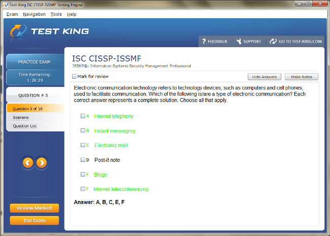 CISSP-ISSMP Sample 5