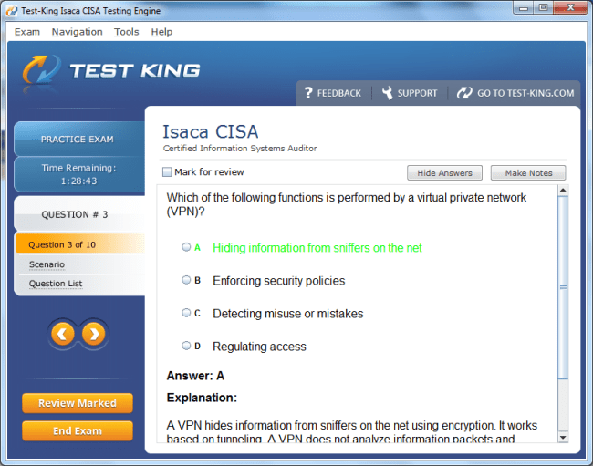 CISA Sample 2