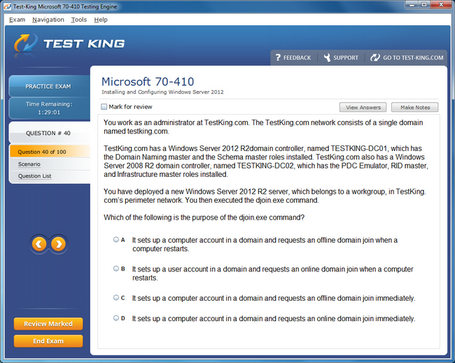 70 410 Testking Microsoft Exam Questions Mcsa Certification With
