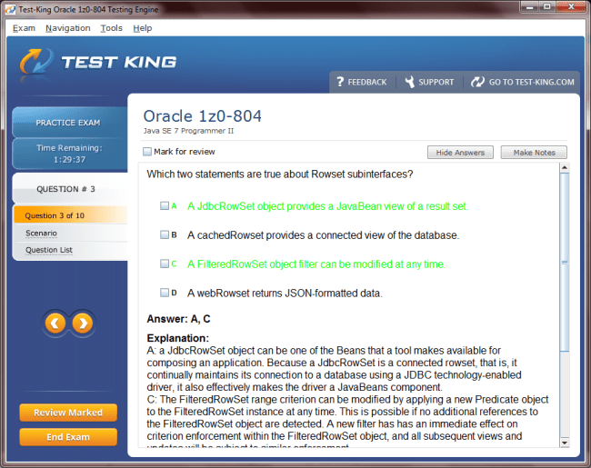 1z0 804 Testking Oracle Exam Questions Oracle Certified