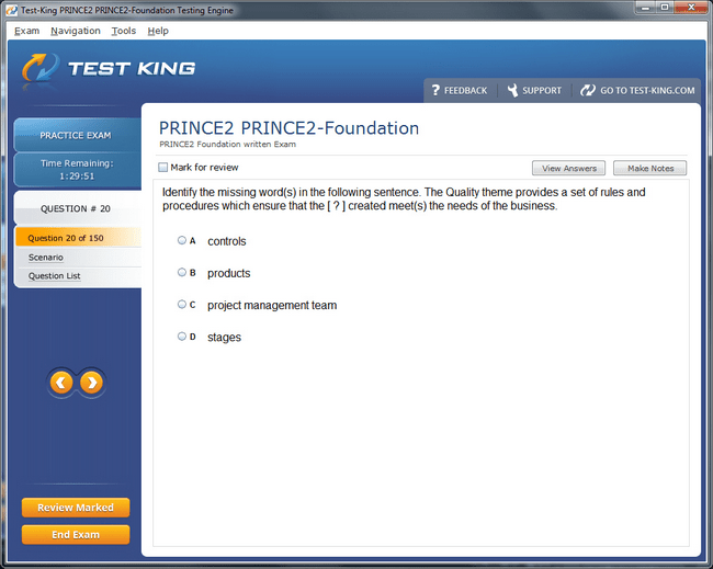 PRINCE2-Foundation Sample 4