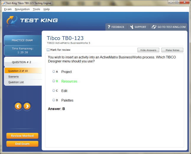 Tb0 123 Testking Tibco Exam Questions Tcp Certification With Tb0